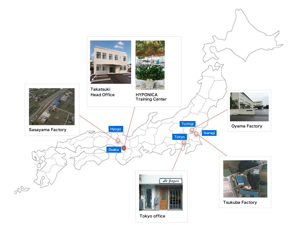 About KYOWA's locations in Japan List